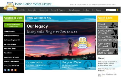 IRWD Website Wins OCPRSA Award